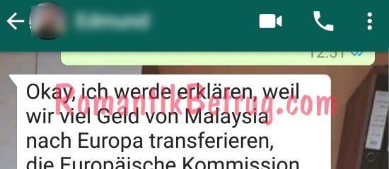 Chats mit Betrügern laufen oft über WhatsApp ab.